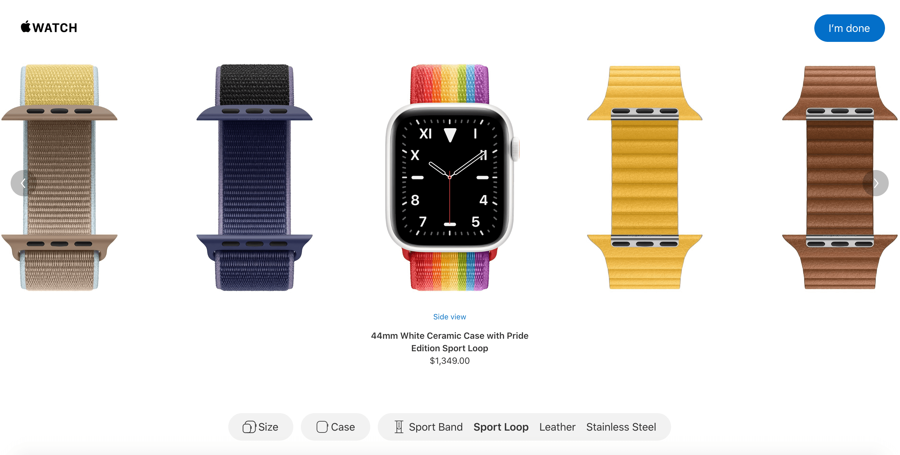 Apple Watch Studio Choose Band